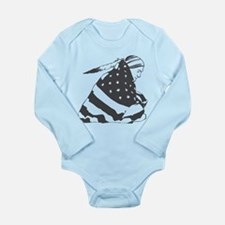 Native American with U.S. Flag Long Sleeve Infant