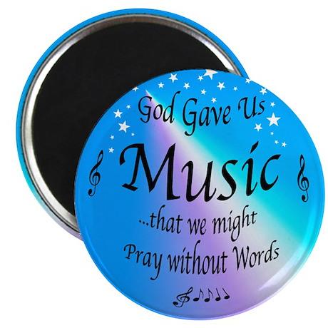 """God Gave Us Music 2.25"""" Magnet (10 pack)"""