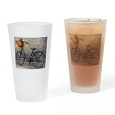 Old Bike Drinking Glass
