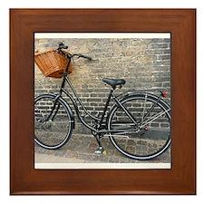 Old Bike Framed Tile