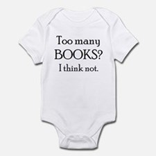 too many books Infant Bodysuit