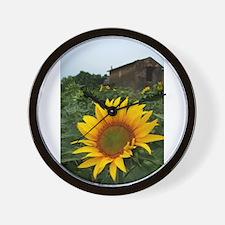 Farmhouse Sunflower Wall Clock