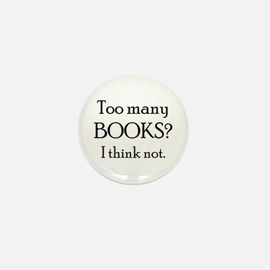 too many books Mini Button