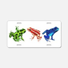 Three Dart Frogs Aluminum License Plate