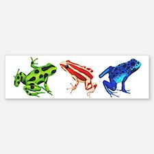 Three Dart Frogs Bumper Bumper Bumper Sticker