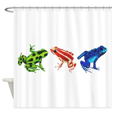 Three Dart Frogs Shower Curtain