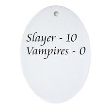 Slayer vs. Vampires Oval Ornament