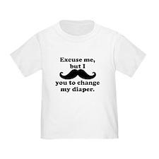 Mustache You To Change My Diaper T-Shirt