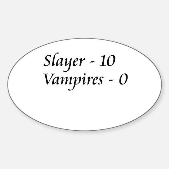 Slayer vs. Vampires Oval Decal