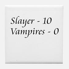 Slayer vs. Vampires Tile Coaster