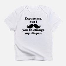 Mustache You To Change My Diaper Infant T-Shirt