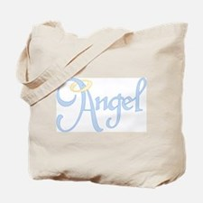 Angel Text Tote Bag