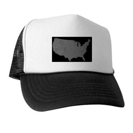 US Shaded Relief Trucker Hat