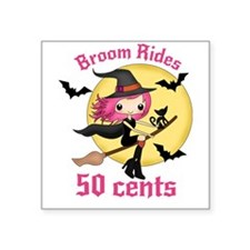 Broom rides 50 cents Sticker