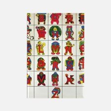 Cute Media and pop culture of the 70 Rectangle Magnet (10 pack)