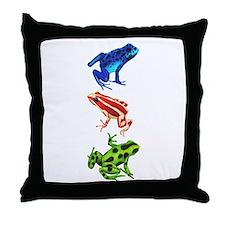 Dart Frogs Throw Pillow