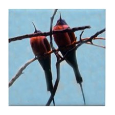 bee-eaters Tile Coaster