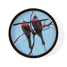 bee-eaters Wall Clock