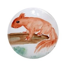 Red Squirrel Ornament (Round)
