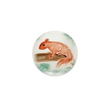 Red Squirrel Mini Button (10 pack)