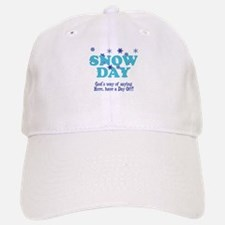 Snow Day Baseball Baseball Cap