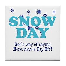 Snow Day Tile Coaster