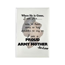 Proud Army Mom-In-Law Rectangle Magnet