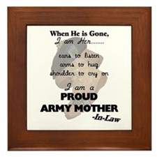 Proud Army Mom-In-Law Framed Tile