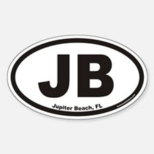 Jupiter Beach JB Euro Oval Decal
