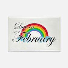 Due in February Rainbow Rectangle Magnet