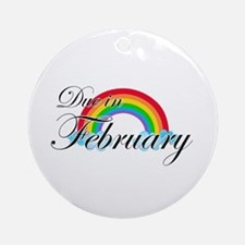 Due in February Rainbow Ornament (Round)