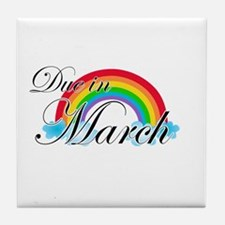 Due in March Rainbow Tile Coaster
