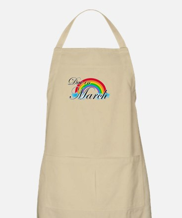 Due in March Rainbow Apron