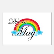 Due in May Rainbow Postcards (Package of 8)