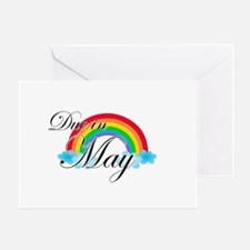 Due in May Rainbow Greeting Card