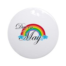 Due in May Rainbow Ornament (Round)