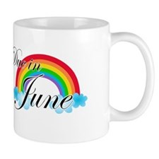 Due in June Rainbow Mug