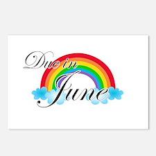 Due in June Rainbow Postcards (Package of 8)