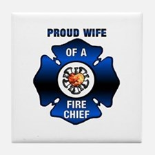 Fire Chiefs Wife Tile Coaster