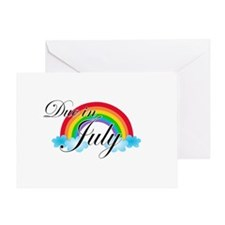 Due in July Rainbow Greeting Card