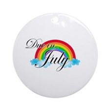 Due in July Rainbow Ornament (Round)