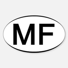 MF - Initial Oval Oval Decal
