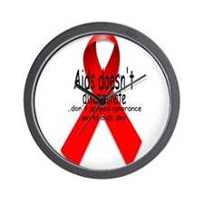 Aids Doesn't discriminate Wall Clock