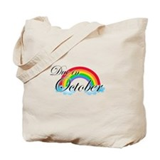 Due in October Rainbow Tote Bag