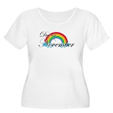 Due in November Rainbow T-Shirt