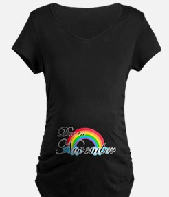 Due in November Rainbow T-Shirt