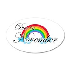 Due in November Rainbow Wall Decal