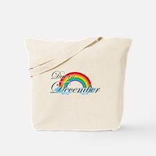Due in December Rainbow Tote Bag