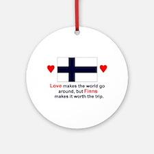 Love Finns Keepsake Ornament