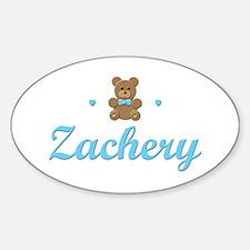 Teddy Bear - Zachery Oval Decal